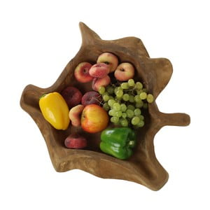 Mísa na ovoce z teakového dřeva HSM Collection Flat
