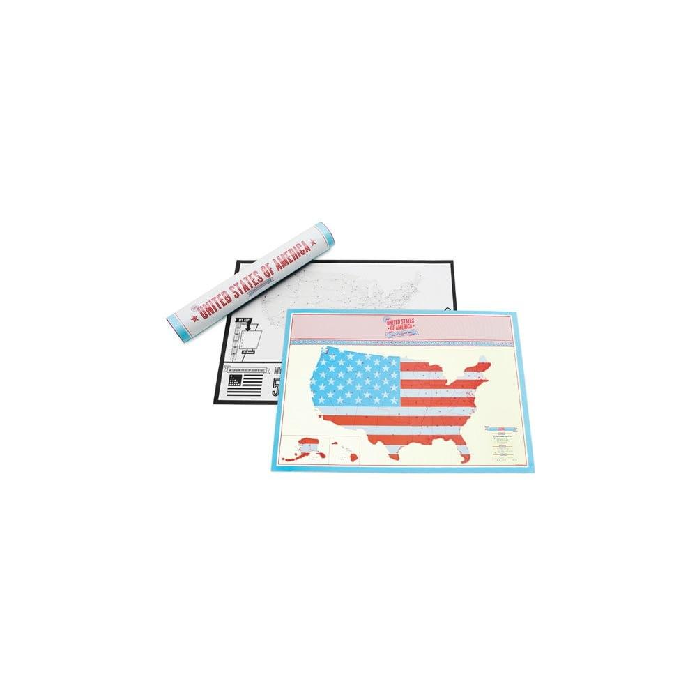 Seškrabávací mapa USA Travel Edition