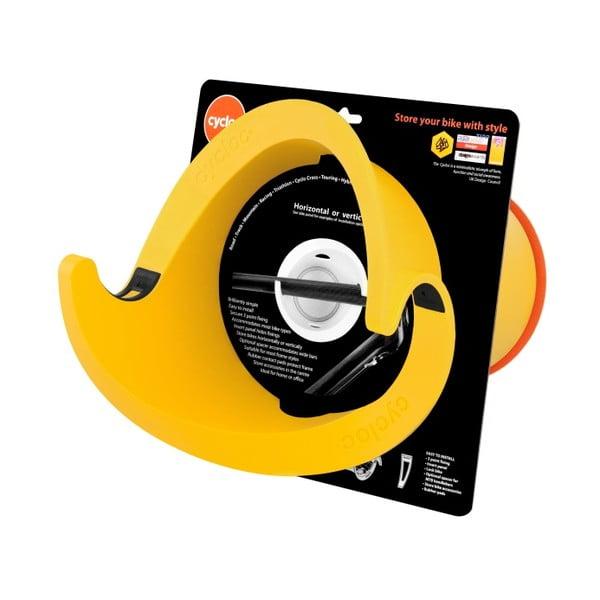 Designový držák na kolo Solo, žlutý