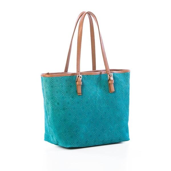 Kožená kabelka Girandola Turquoise