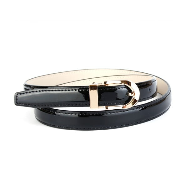 Dámský kožený pásek 4300L Black, 80 cm