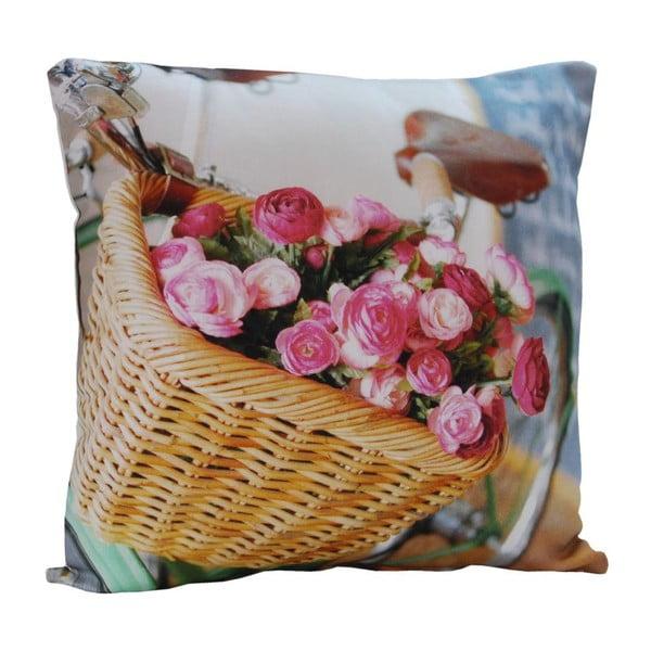 Polštář Flowers in basket, 45x45 cm