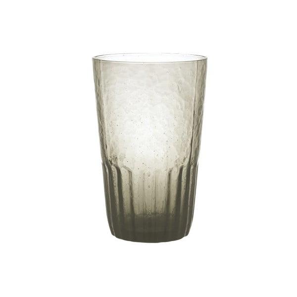 Šedá sklenice Kinto Dew, 420 ml