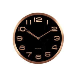 Ceas de perete Present Time Maxie Copper, negru