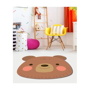 Dětský vinylový koberec Floorart Medvídek, ⌀ 100 cm