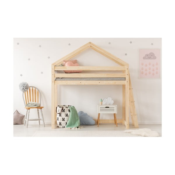 Domečková palanda z borovicového dřeva Adeko Mila DMPBA,90x180cm