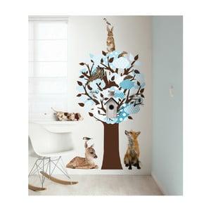 Samolepky Softtone Tree s háčky, modrá