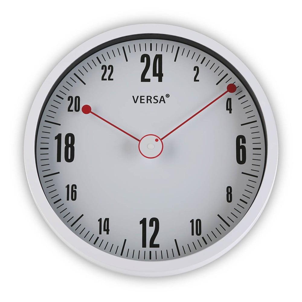 Bílé kulaté nástěnné hodiny Versa Paola, ø 30 cm