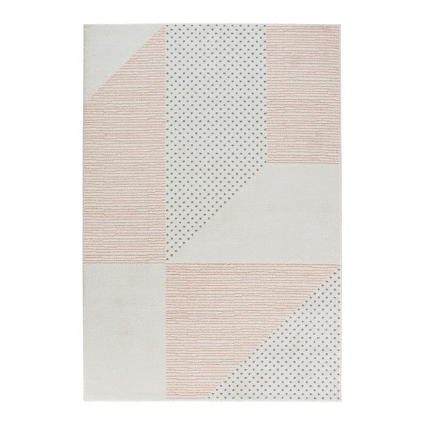 Covor Mint Rugs Madison, 160 x 230 cm, crem-roz