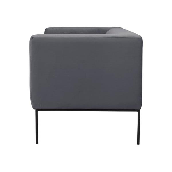 Tmavě šedá dvojmístná pohovka Windsor & Co Sofas Neptune