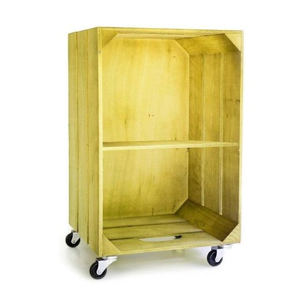 Rustikální dřevěná polička Really Nice Things, žlutá