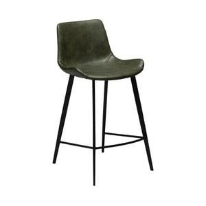 Tmavě zelená barová židle z eko kůže DAN–FORM Denmark Hype