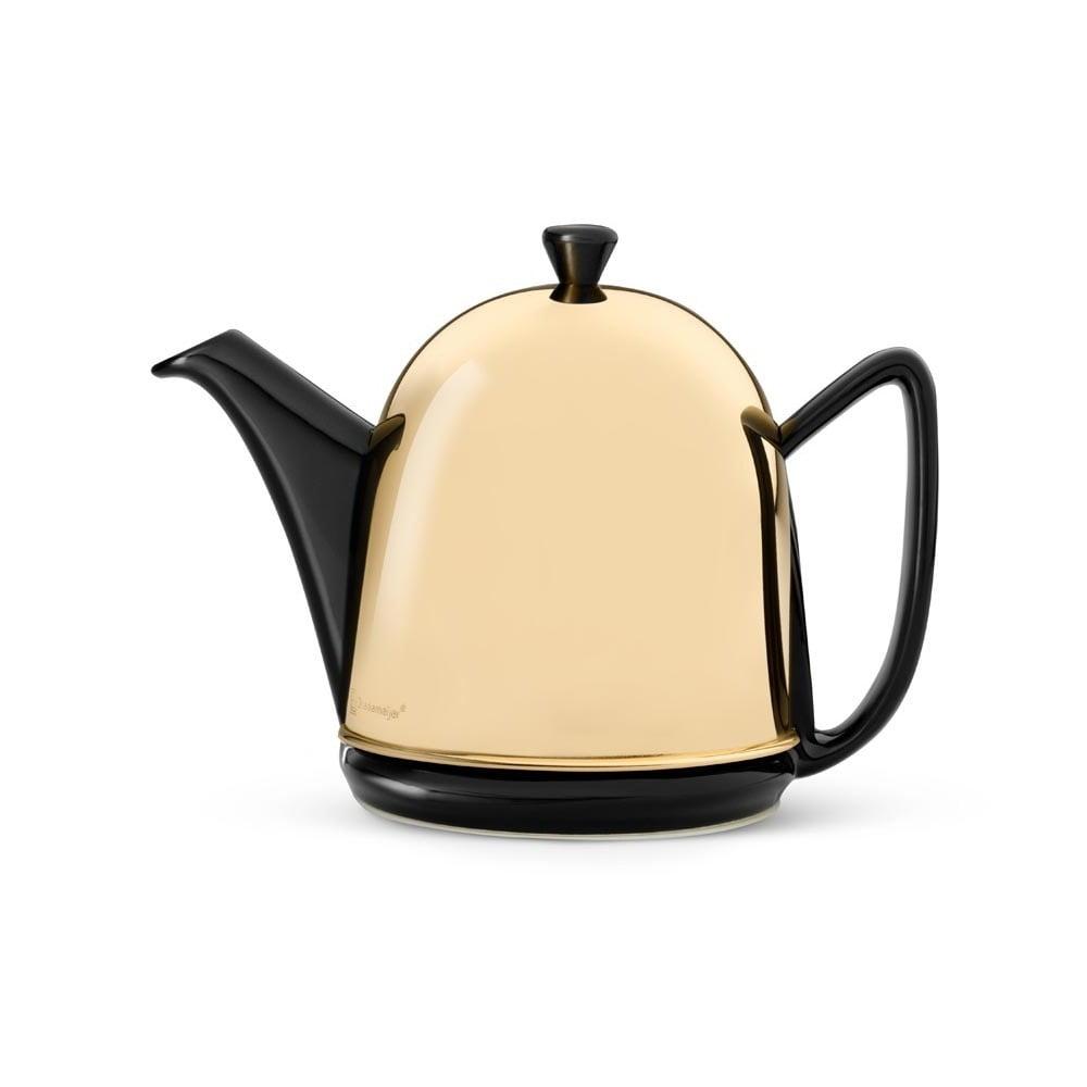 Konvice v mosazné barvě se sítkem na sypaný čaj Bredemeijer Manto, 1l