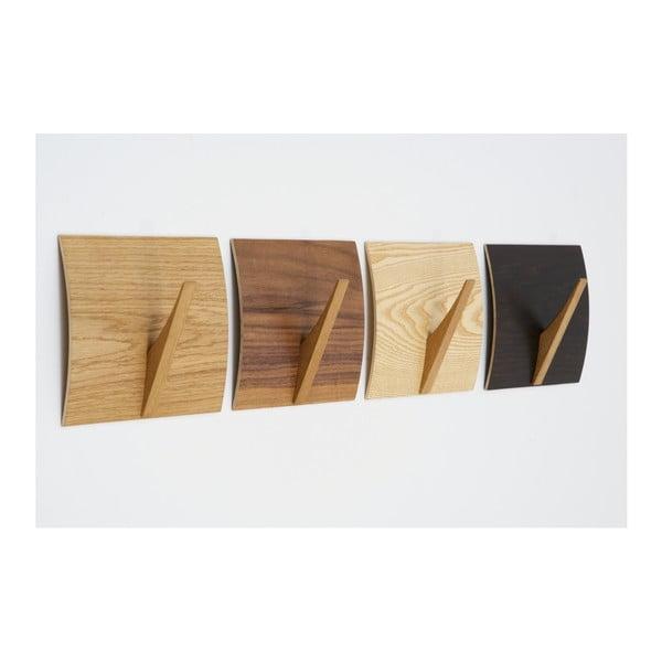 Nástěnný věšák z masivního dřeva Woodman Rack Naki Black Oak
