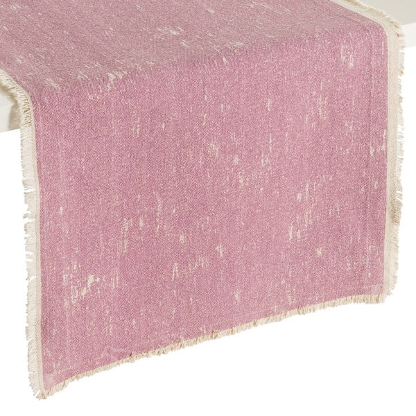 Růžový běhoun na stůl Denzzo Boho, 45x150cm