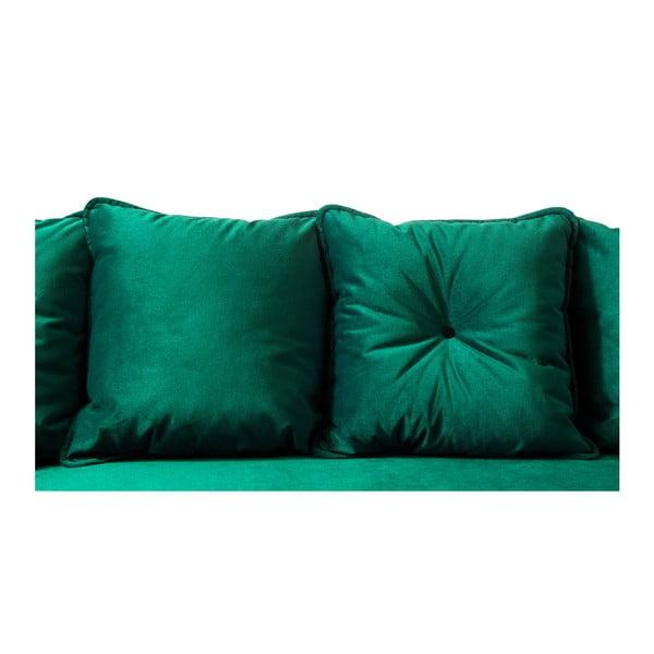 Zelená rozkládací pohovka Bobochic Paris Hera Bis, levý roh