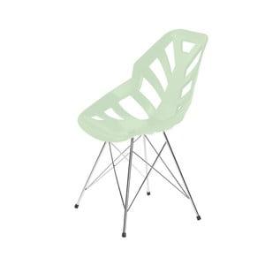 Světle zelená židle Ninja, pavoukové nohy