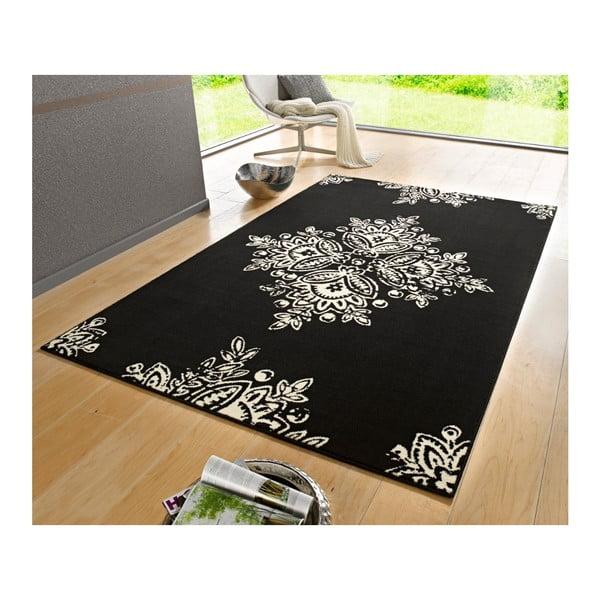Černobílý koberec Hanse Home Gloria Blossom, 160x230cm