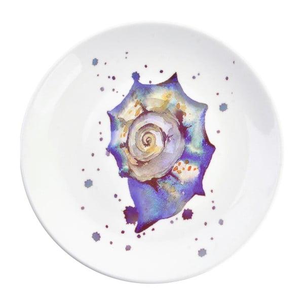 Dekoracyjny talerz ceramiczny Clayre & Eef Seasnail, ⌀ 20 cm