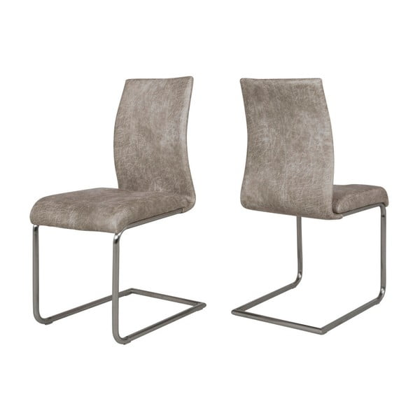 Sada 4 šedých židlí Canett Clipper