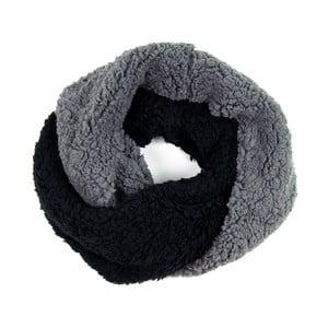 Šála Double Grey/Black