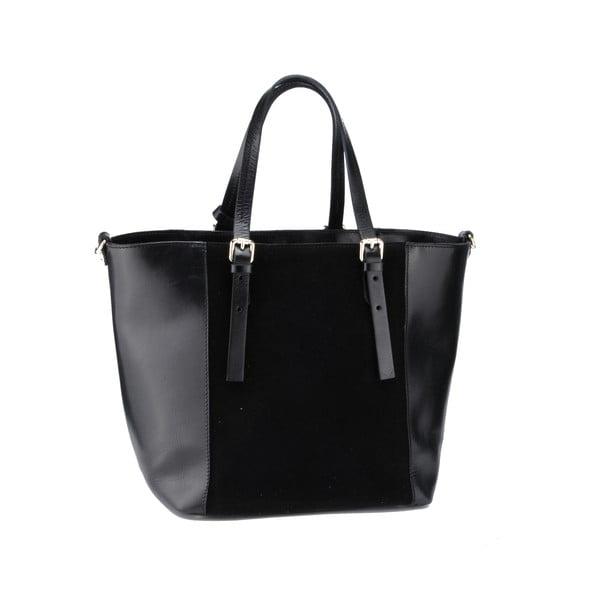 Kožená kabelka Gomeisa, černá