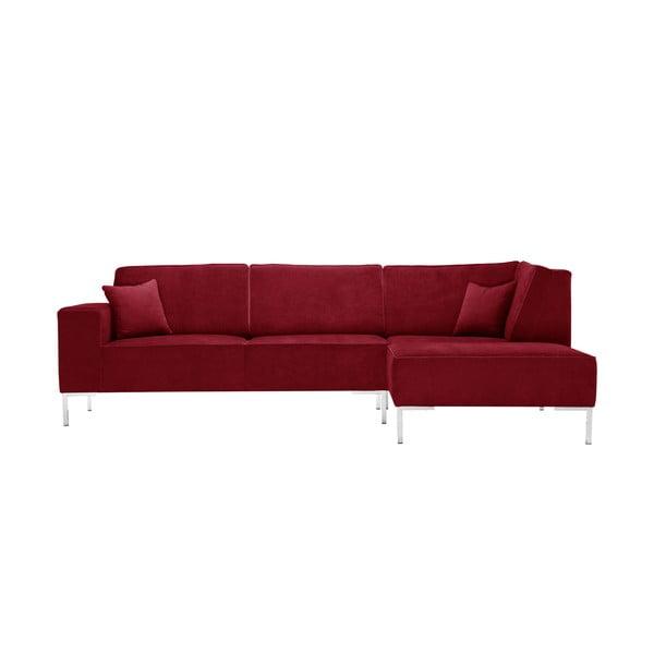 Czerwona narożna sofa Corinne Cobson Blackbird, prawy róg