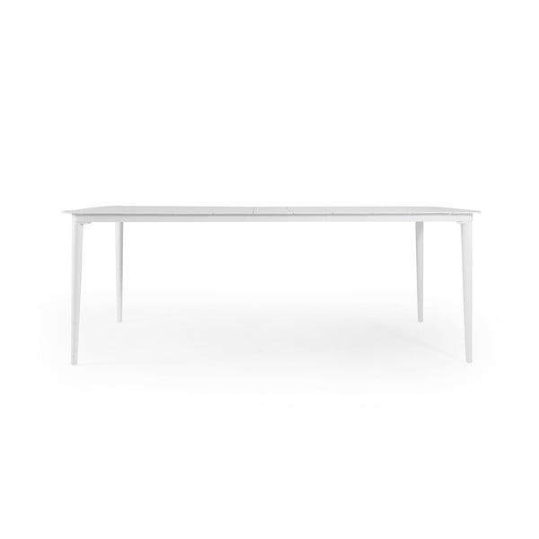 Bílý zahradní jídelní stůl Brafab Grandby, 212x100cm