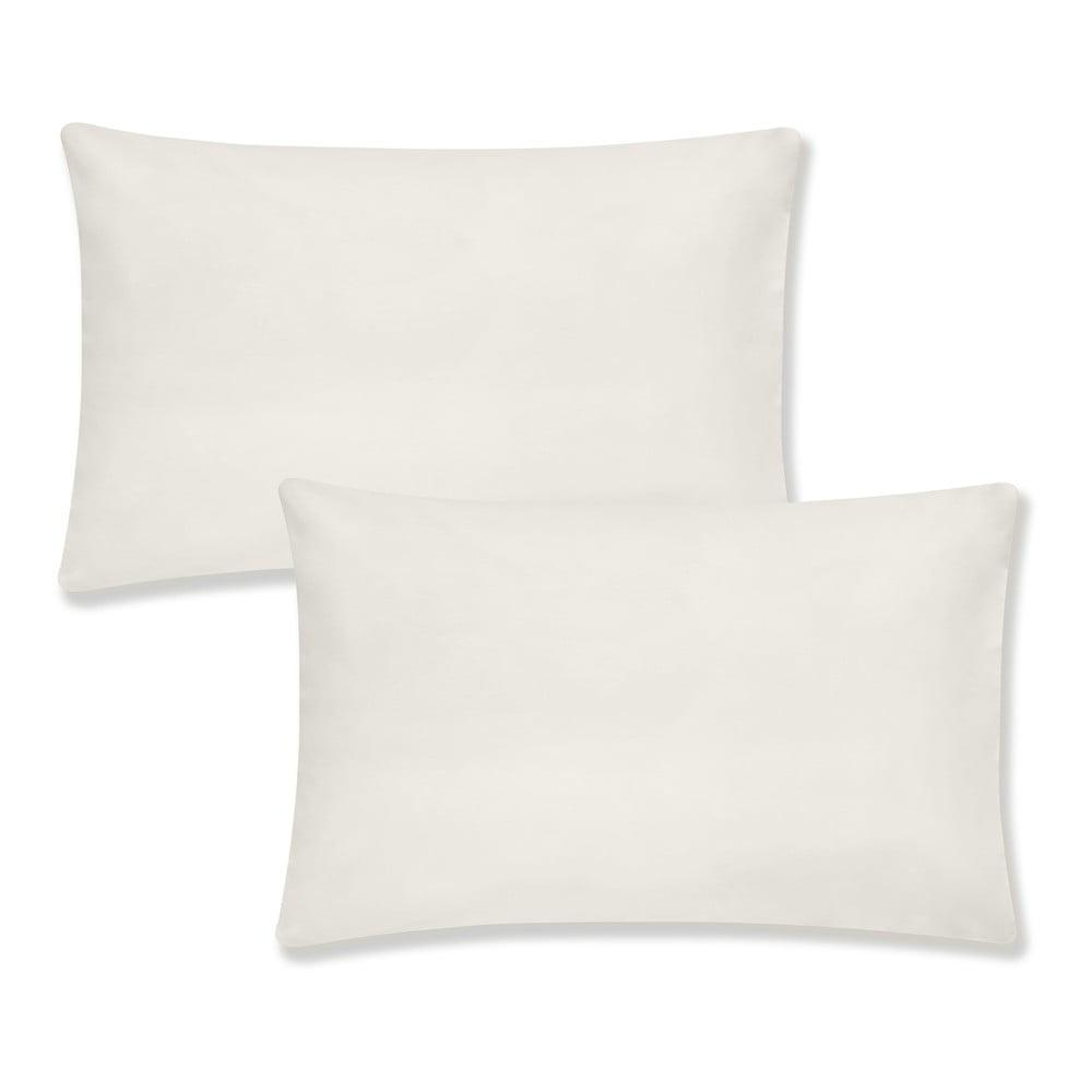Sada 2 béžových povlaků na polštář z organické bavlny Bianca Organic, 50 x 75 cm