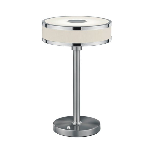 Veioză LED Trio Agento, înălțime 32 cm, argintiu