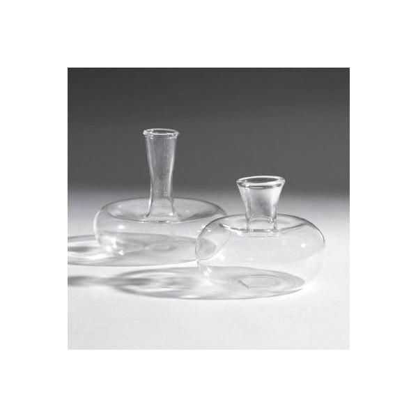 Sada 2 skleněných váz Oval