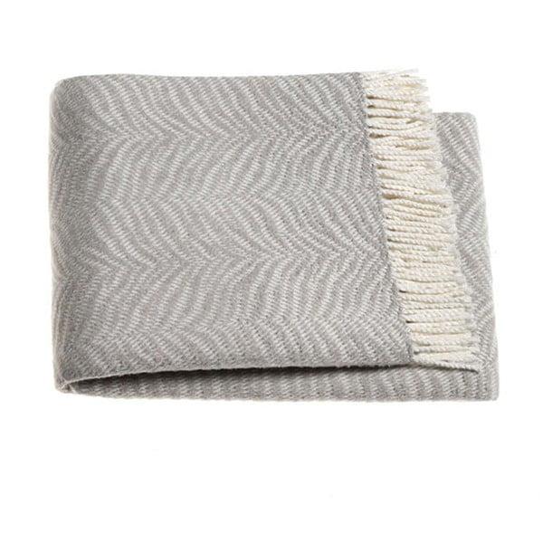 Světle šedý pléd s podílem bavlny Euromant Tiger, 140x180cm