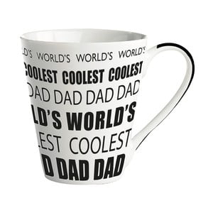 Porcelánový hrnek KJ Collection World's Coolest Dad, 300 ml