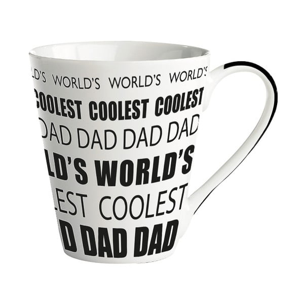 Cană porțelan KJ Collection World's coolest dad, 300 ml
