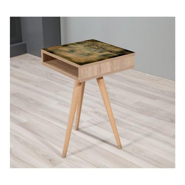 Odkládací stolek Zigon Dark, 40 x 40 cm