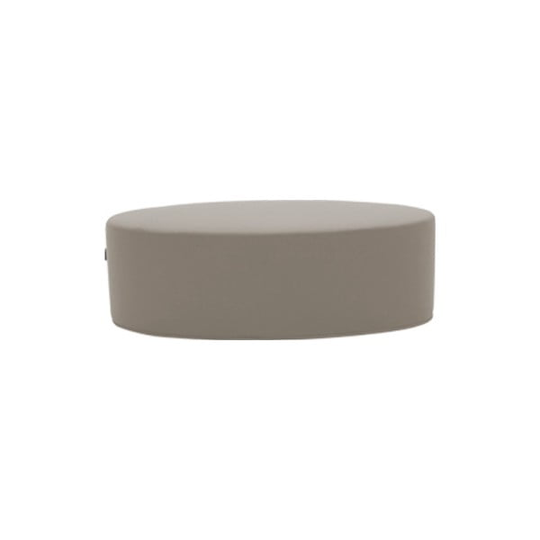Šedobéžový puf Softline Bon-Bon Valencia Sand, délka 120 cm