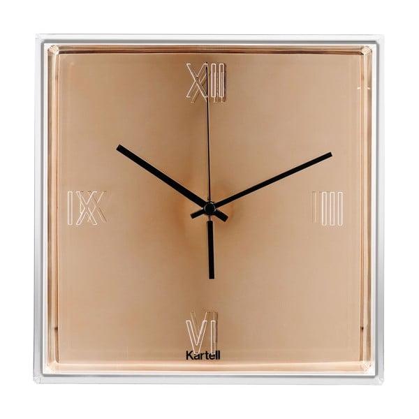 Nástěnné hodiny v měděné barvě Kartell Tic Tac