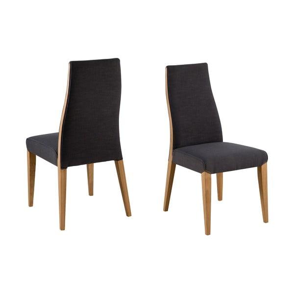 Čierna jedálenská stolička s podnožím z dreva gumovníka Actona Wilma