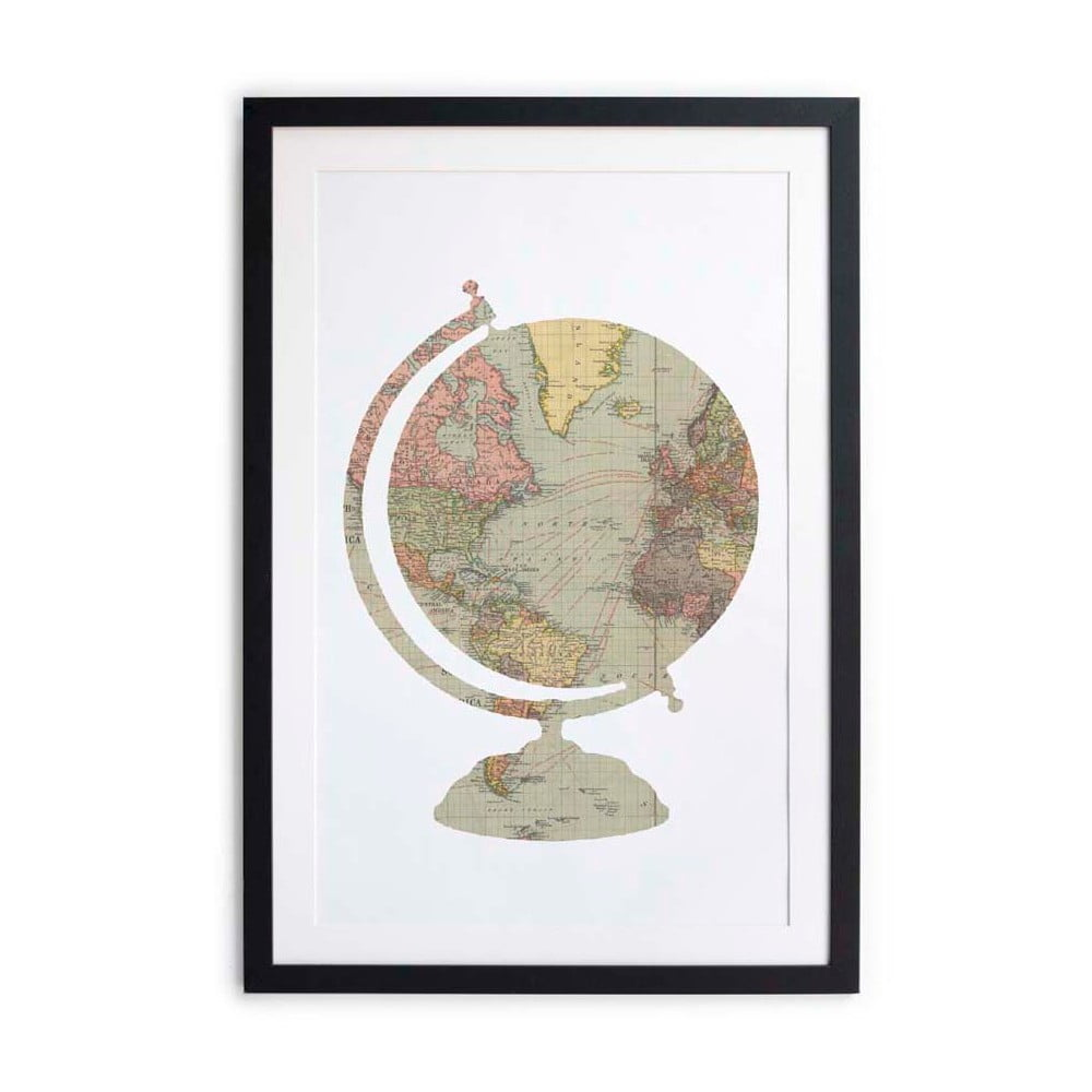 tablou little nice things globe 40 x 60 cm bonami. Black Bedroom Furniture Sets. Home Design Ideas