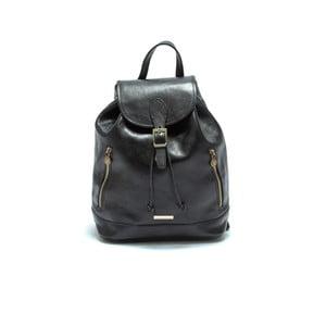 Černý kožený batoh Anna Luchini Bario