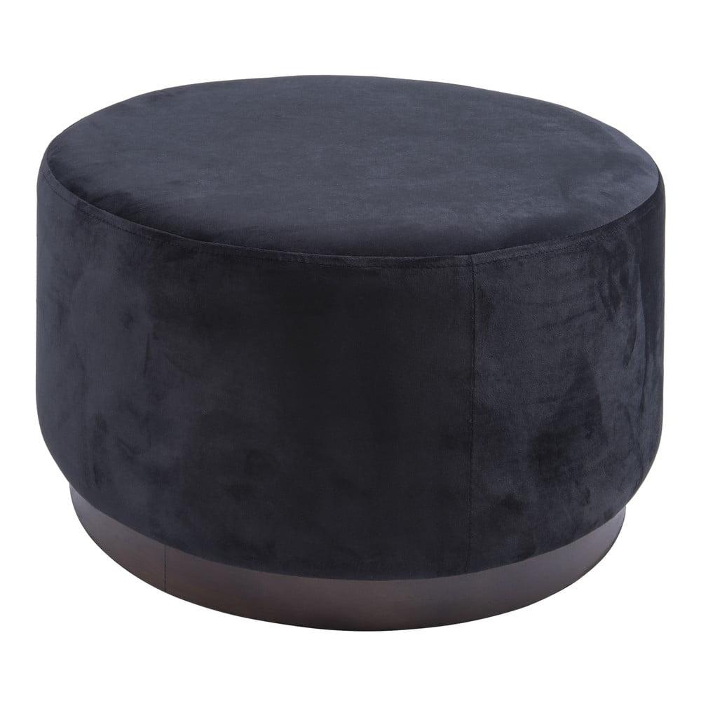 Černý puf Leitmotiv Wood