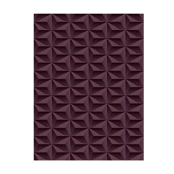 Koberec z vinylu Origami Choco, 99x120 cm