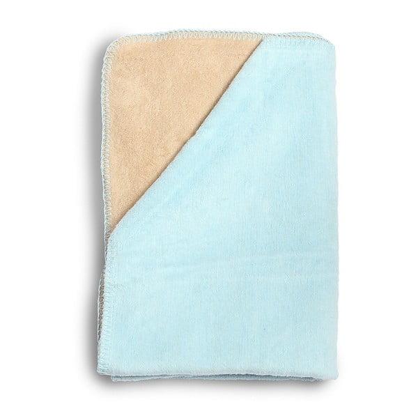 Pătură din bumbac pentru copii YappyKids Sense, 75 x 100 cm, albastru