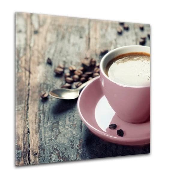 Obraz Styler Glasspik Kitchen Pink Coffee, 30 x 30 cm