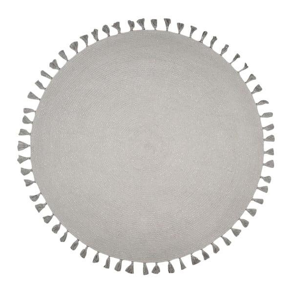 Szary ręcznie tkany okrągły dywan Nattiot Josephine,∅140cm