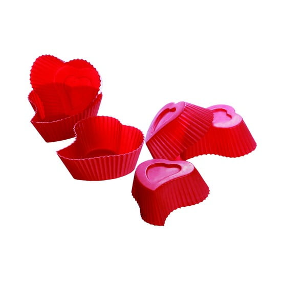Formy na muffiny Heart, 6 ks