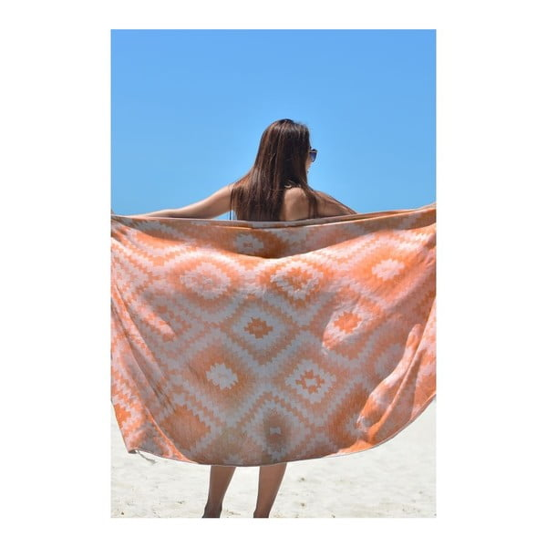 Prosop hammam Vive Orange, 95x180 cm