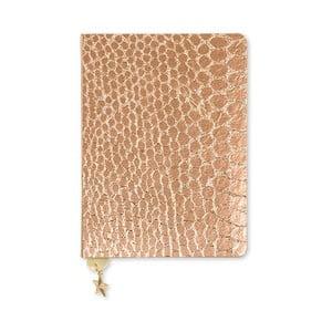 Zápisník A6 v bronzové barvě GO Stationery All That Glitters Croc