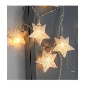 Ghirlandă luminoasă cu LED Best Season Net Stars Silver