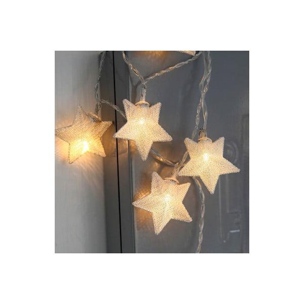 Svítící řetěz Best Season Stars Chrome, 10 světýlek